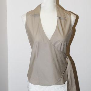 Banana Republic beige sleeveless blouse size S